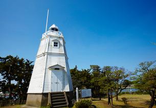 日和山公園の木造六角灯台 山形県の写真素材 [FYI02616554]