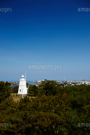 日和山公園の木造六角灯台 山形県の写真素材 [FYI02617143]