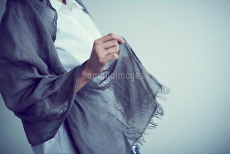 ストールを羽織る女性の写真素材 [FYI02620249]