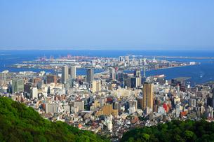 再度山から望む神戸市街の写真素材 [FYI02624181]