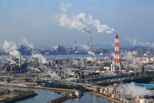 水島臨海工業地帯の写真素材 [FYI02625494]