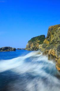 足摺岬の岩と波の写真素材 [FYI02627906]