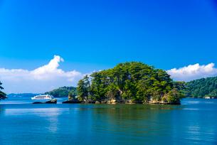 日本三景松島・福浦島より松島湾と島々の写真素材 [FYI02641619]