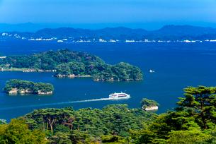 日本三景松島・西行戻しの松公園より松島湾風景の写真素材 [FYI02641949]