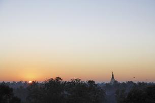 シットウェの日没の写真素材 [FYI02642285]