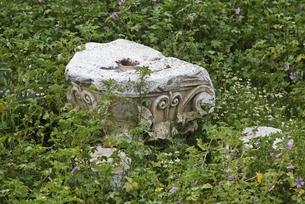 medieval centre, stone, ornaments, ruins, Berat, Albaniaの写真素材 [FYI02642448]