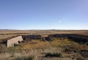stone wall, old Mongol capital, Yuan Shangdu or Xanaduの写真素材 [FYI02642490]
