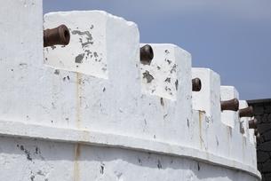 Castillo de la Virgen, cannonsの写真素材 [FYI02642792]