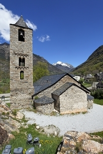 Sant Joan Church, Boi, Vall de Boi, Cataloniaの写真素材 [FYI02642796]