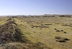 remains of a wall, old Mongol capital, Yuan Shangduの写真素材 [FYI02642910]