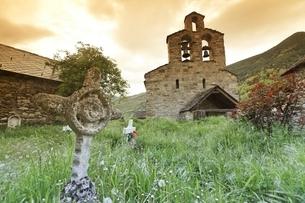 Santa Maria de Cardet Church, Cardet, Vall de Boiの写真素材 [FYI02642966]