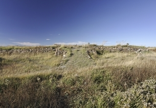 central palace remains, old Mongol capital, Yuan Shangduの写真素材 [FYI02643046]