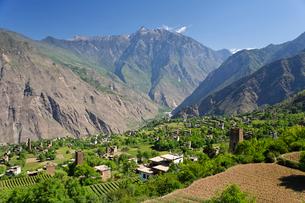 チベット族の村の写真素材 [FYI02643388]