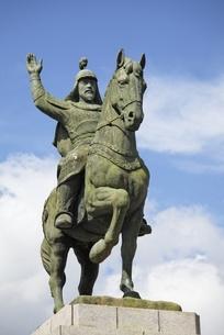 statue of General Gyebaek, Buyeo, Koreaの写真素材 [FYI02643420]