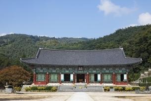 Main Hall, Geumsansa Temple, near Jeonju, Koreaの写真素材 [FYI02643437]