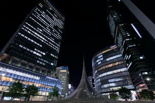 名古屋駅前の夜景の写真素材 [FYI02643468]