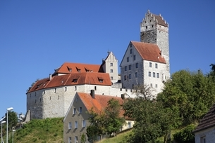 Burg Katzenstein, castle, Baden-Wuerttemberg, Germanyの写真素材 [FYI02643516]