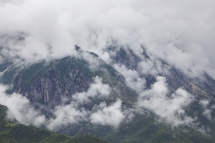 mountains, clouds, near Permet, Albaniaの写真素材 [FYI02643639]