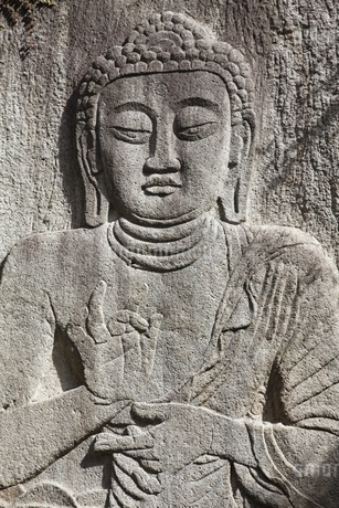 Seated Buddha, Beopjusa Temple, Chungcheongbuk-doの写真素材 [FYI02643708]