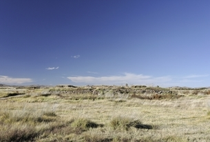grassland, old Mongol capital, Yuan Shangdu or Xanaduの写真素材 [FYI02643857]