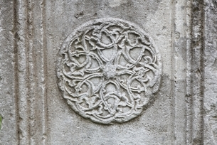 medieval centre, stone, ornaments, Berat, Albaniaの写真素材 [FYI02643950]