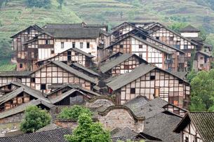 福宝古鎮の家の写真素材 [FYI02643984]