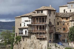 Casas Colgadas, houses, Cuenca, Spainの写真素材 [FYI02644361]