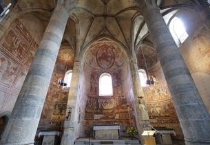 Benedictine Convent of Saint John; wall paintingsの写真素材 [FYI02644401]