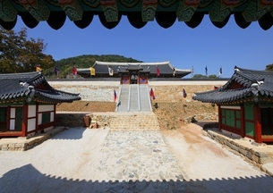 Tongyeong Sebyeonggwan, gate, stairs, Tongyeongの写真素材 [FYI02644426]