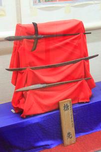 大坂夏の陣の真田幸村の槍先の写真素材 [FYI02644837]