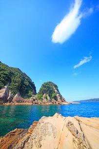 見残し海岸の平田郎釣場の写真素材 [FYI02645242]