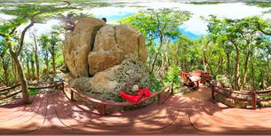 石林の壁と聖地アシムイのパワースポットの写真素材 [FYI02646460]