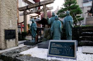 三姉妹 北ノ庄城跡の写真素材 [FYI02646961]