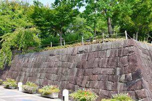 伊丹 有岡城跡石垣の写真素材 [FYI02647183]