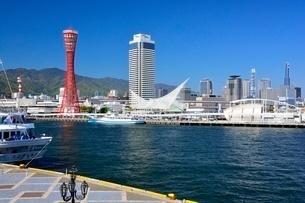 神戸,ハーバランドモザイクからの街並みの写真素材 [FYI02647300]