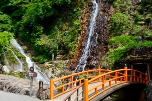 史跡,生野銀山,不動滝の写真素材 [FYI02647496]