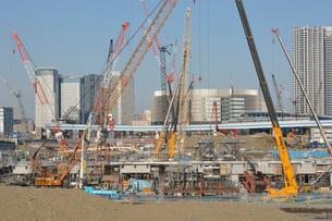 工事中の豊洲新市場の写真素材 [FYI02647683]