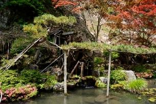 史跡,生野銀山,生野代官所内の池の写真素材 [FYI02647686]
