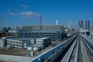 建設中の豊洲新市場の写真素材 [FYI02647873]