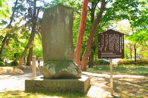 田中月亀翁父子の歌碑の写真素材 [FYI02647965]
