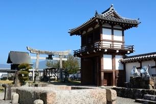 福知山城,朝暉神社の写真素材 [FYI02648063]