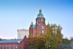 北欧最大規模ロシア正教会のウスペンスキー寺院の写真素材 [FYI02648344]