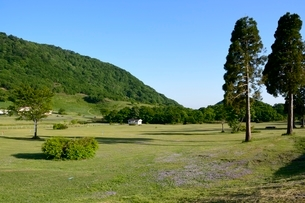新緑,休暇村奥大山の風景の写真素材 [FYI02648400]