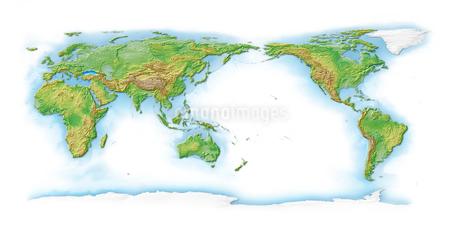 世界地図白背景のイラスト素材 [FYI02648854]