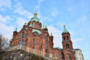 北欧最大規模ロシア正教会のウスペンスキー寺院の写真素材 [FYI02648903]