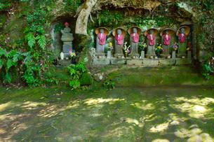 神武寺鷹取山ハイキングコースにある石仏の写真素材 [FYI02648979]