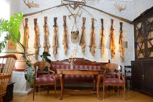 ルーネベリ生家にあるルーネベリが仕留めたキツネの部屋の写真素材 [FYI02648986]