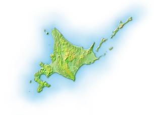 北海道地図のイラスト素材 [FYI02649155]