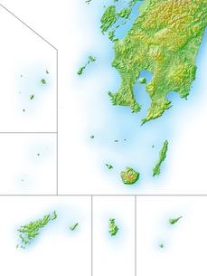 鹿児島県大隅諸島地図のイラスト素材 [FYI02649246]