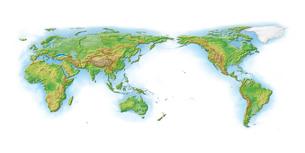 世界地図白背景のイラスト素材 [FYI02649349]